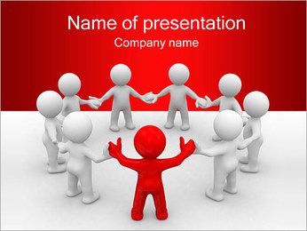 Team of People Plantillas de Presentaciones PowerPoint