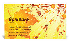 Autumn Business Card Template
