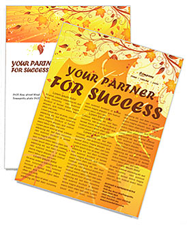 autumn newsletter template design id 0000000657 smiletemplates com
