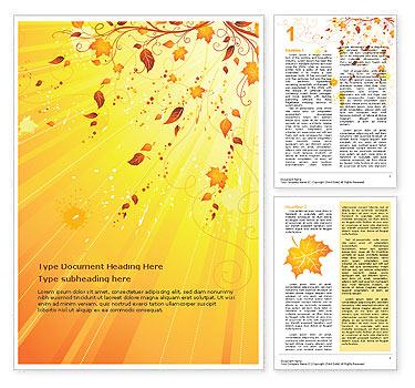 Autumn Word Template