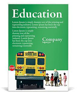 Autobús Escolar Plantillas de anuncio