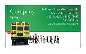 School Bus Business Card Templates