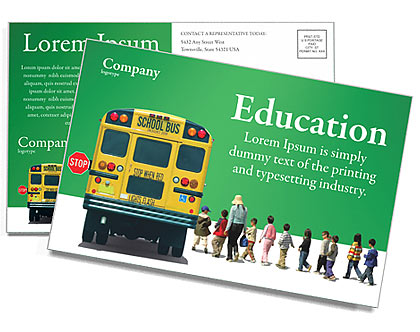 School Bus Postcard Template