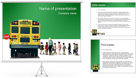 School Bus PowerPoint Template Backgrounds ID 0000000658 – Powerpoint Flyer Template