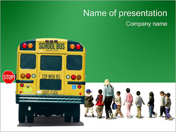 School Bus PowerPoint Template