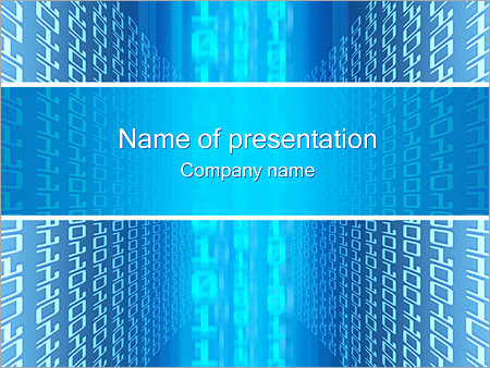 Binary code PowerPoint Template & Backgrounds ID 0000000663 ...