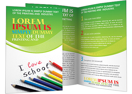 I Love School Brochure Template & Design Id 0000000665