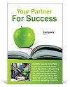 Green Apple & Book Ad Template