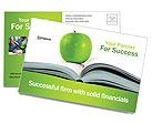Green Apple & Book Postcard Templates