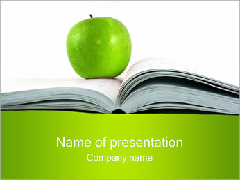 Green Apple & Книга Шаблоны презентаций PowerPoint