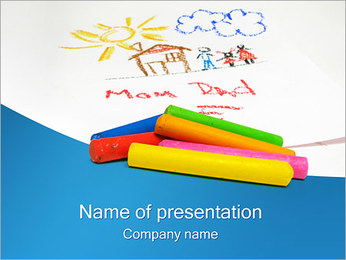 Children Drawings PowerPoint Template