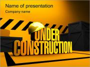Under Construction Sjablonen PowerPoint presentaties