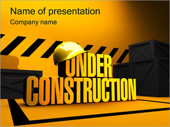 Under Construction PowerPoint Template - Slide 1