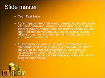 Under Construction PowerPoint Template - Slide 2