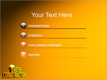 Under Construction PowerPoint Template - Slide 3