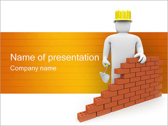 Building Up PowerPoint Template - Slide 1