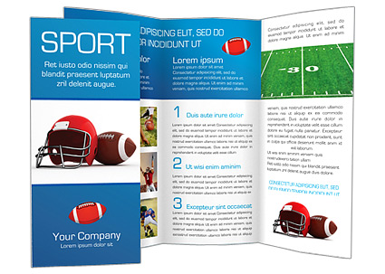 american football brochure template