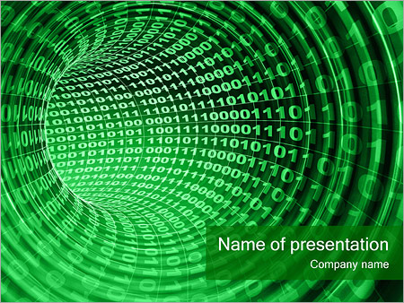 Binary Stream PowerPoint Templates