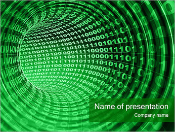 Binary Stream PowerPoint Template