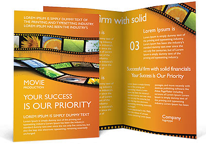 film brochure template