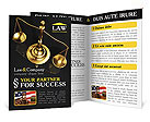 Golden Brass Scale Brochure Template