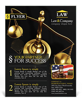Golden Brass Scale Flyer Template