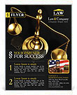 Golden Brass Scale Flyer Templates