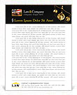 Golden Brass Scale Letterhead Template