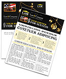 Golden Brass Scale Newsletter Templates