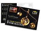 Golden Brass Scale Postcard Template