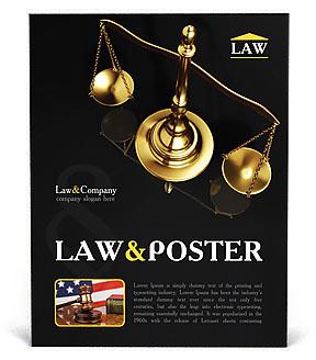 Escala de latón dorado Poster