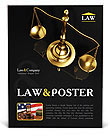 Golden Brass Scale Poster Template
