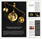 Golden Brass Scale Word Template