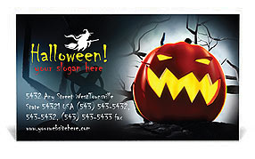 Halloween Business Card Template