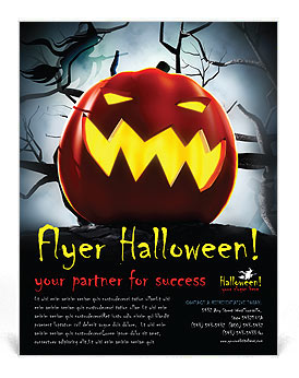 Halloween Flyer Template & Design ID 0000000687 - SmileTemplates.com