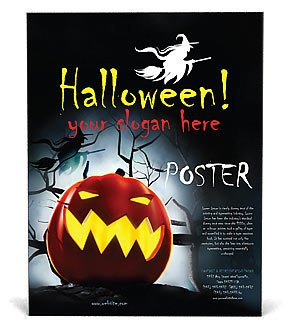 Halloween Poster Template & Design ID 0000000687 - SmileTemplates.com