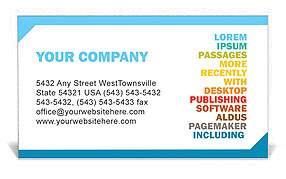 Words Business Card Template