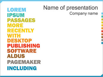 Words PowerPoint Template