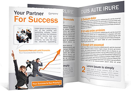 Success brochure template design id 0000000689 for Successful brochure design