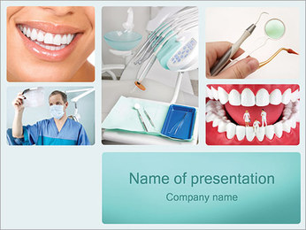 Aiuto Dental I pattern delle presentazioni del PowerPoint