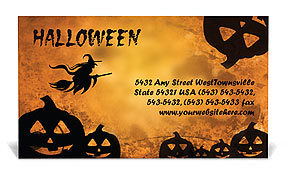 Jack-o-lantern Business Card Templates