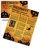 Jack-o-lantern Newsletter Templates