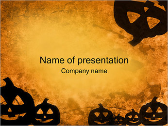 Jack-o-lantern PowerPoint Template
