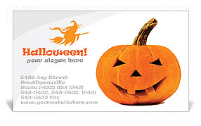Halloween Pumpkin Business Card Template