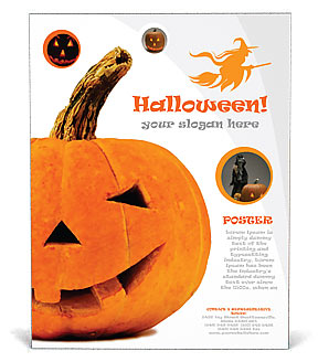 Halloween Pumpkin Poster Template & Design ID 0000000695 ...
