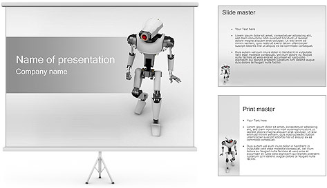 Robot PowerPoint Template & Backgrounds ID 0000000696 ...