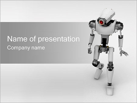 Robot powerpoint template backgrounds id 0000000696 robot powerpoint template toneelgroepblik Images