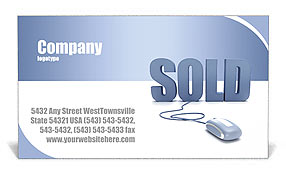 Sold Business Card Templates