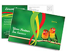 Birds Postcard Template