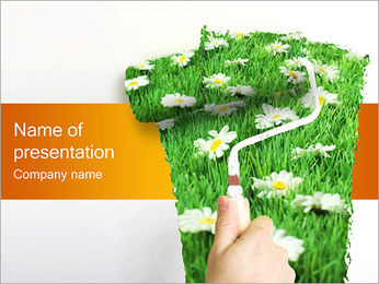 Interior Spring Decoration PowerPoint Template